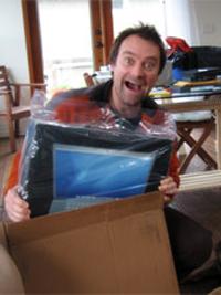David Hewlett et son nouveau Mac