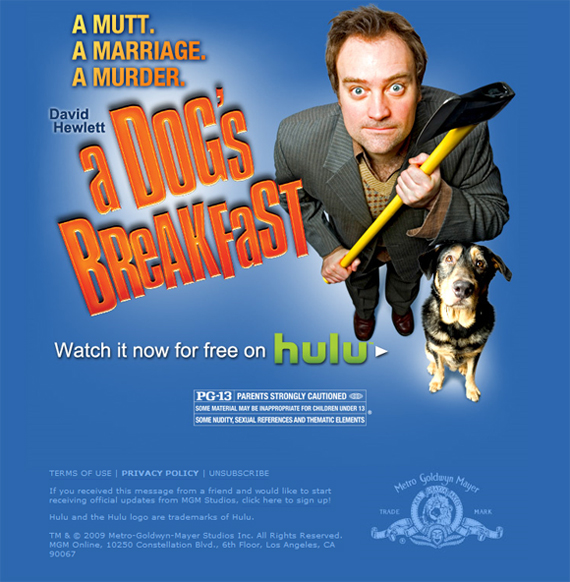 A Dog's Breakfast, newsletter MGM !