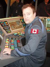 David Hewlett en tournage sur Stargate Atlantis
