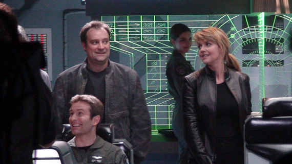 David Hewlett et Amanda Tapping