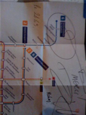Signature de David Hewlett sur un plan du métro